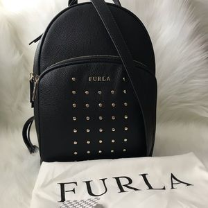 🔴SOLD🔴 Furla Women's Studded Leather Backpack